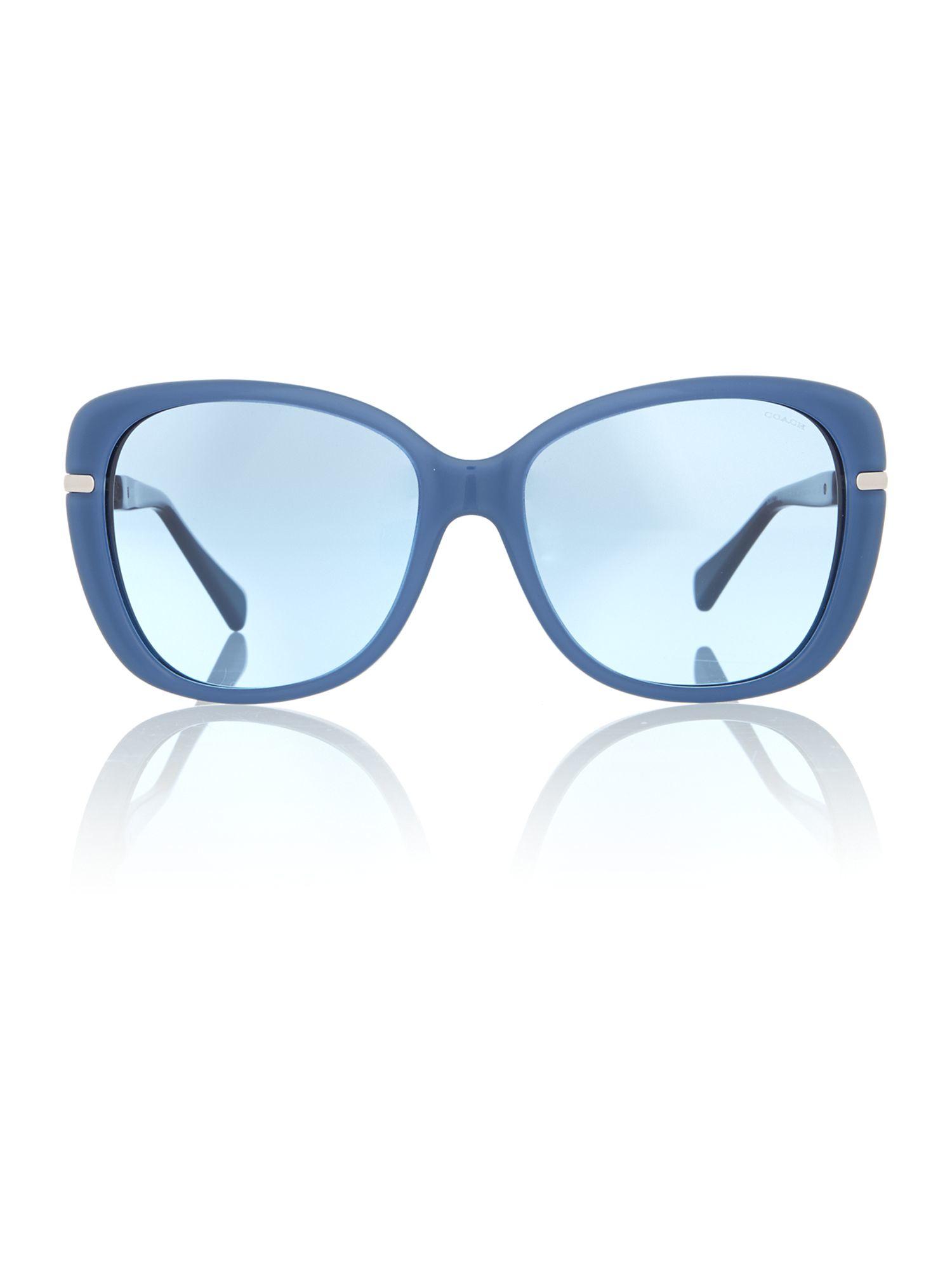 a6d247a492 ... cheap lyst coach hc8131 cat eye sunglasses in blue 6426d 9b581