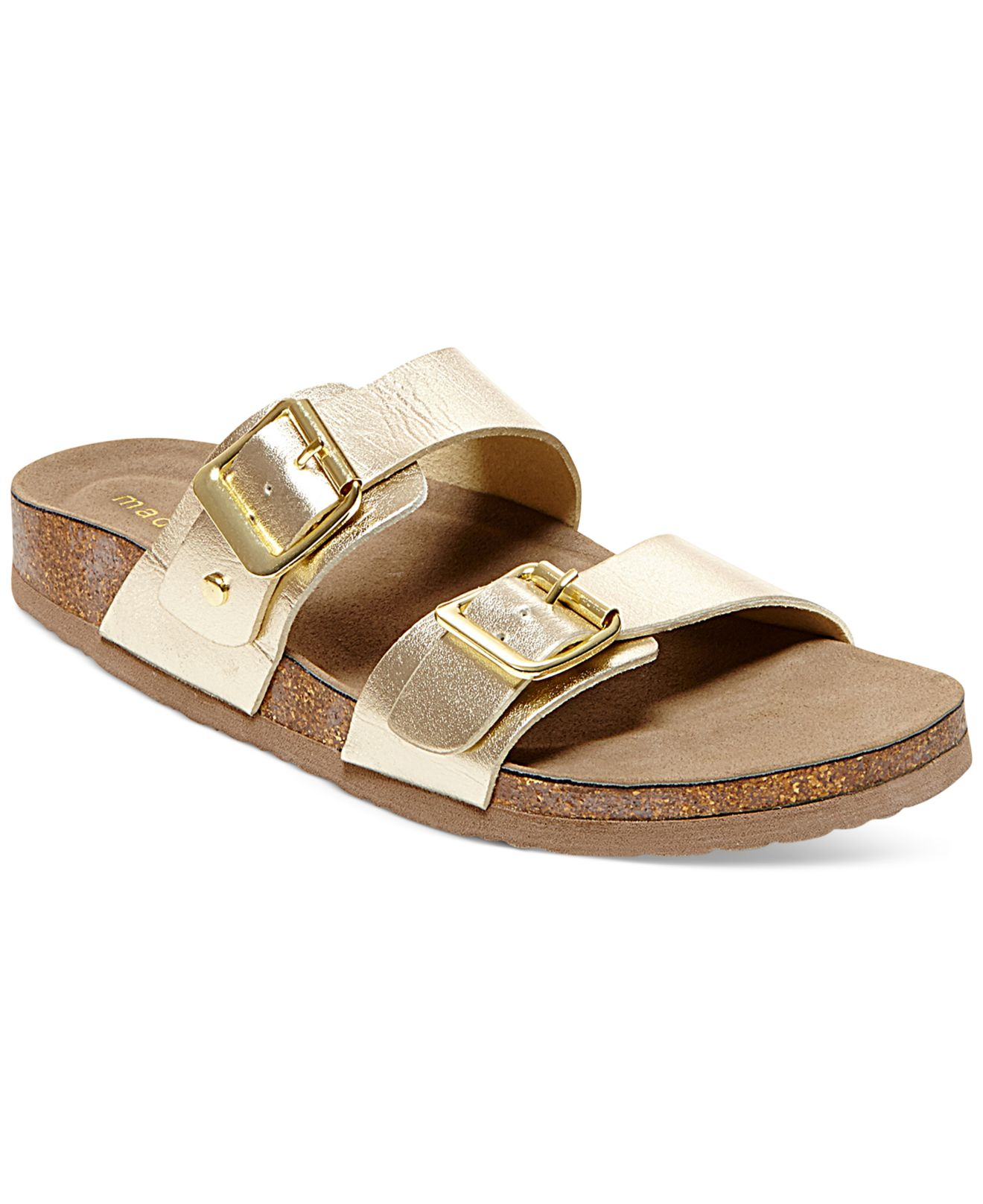 Madden Girl Brando Footbed Sandals In Metallic Lyst