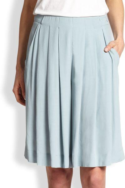 see by chlo 233 pleated midi split skirt in blue lyst