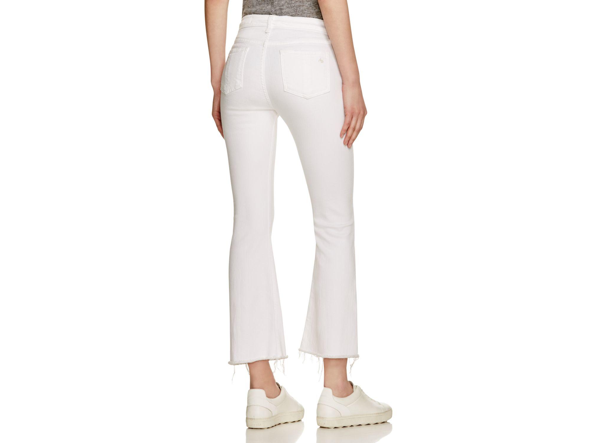 Crop White Jeans - Jeans Am