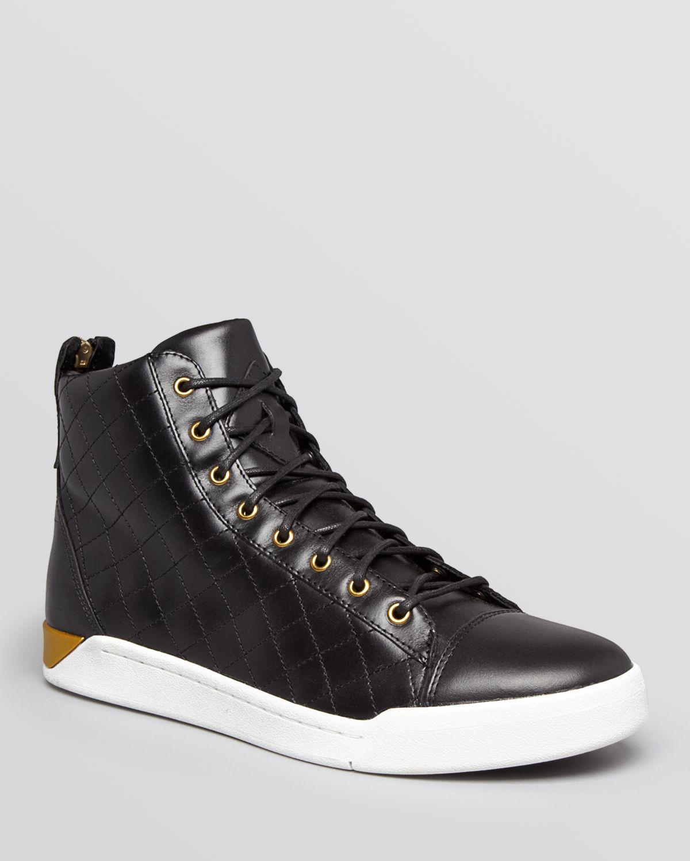 Diesel Tempus Diamond Leather Mid-Top Sneakers beYNdj8okR