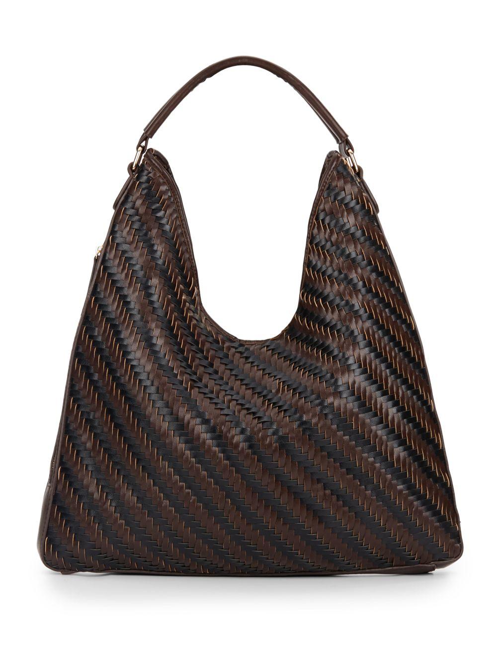 Sondra Roberts Woven Hobo Bag In Brown Lyst