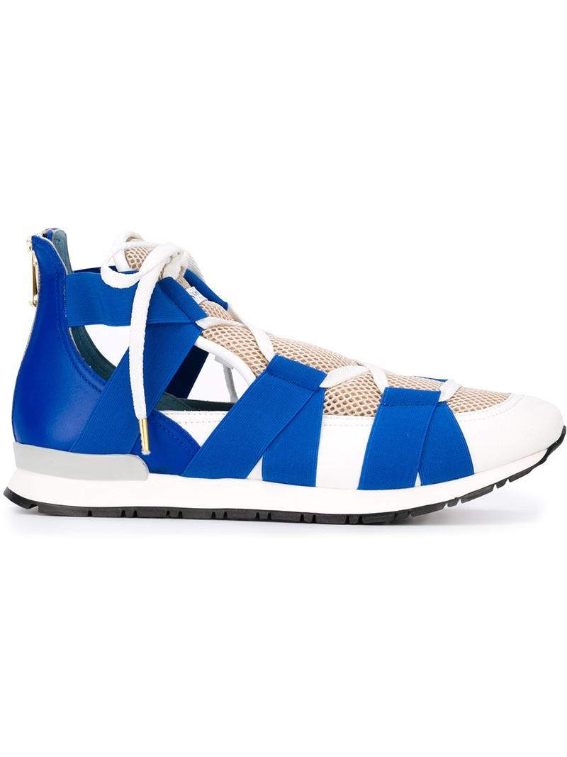 vionnet elasticated band sneakers in white lyst