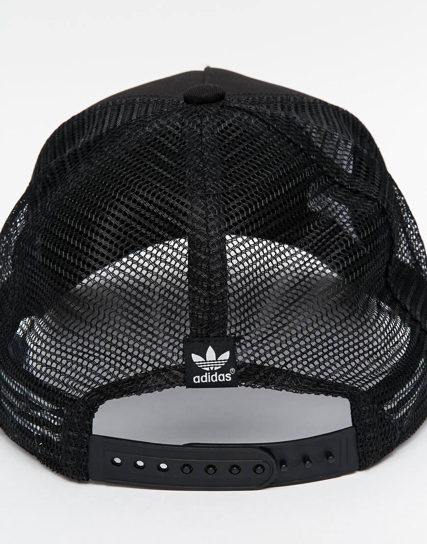 Lyst - adidas Originals Trucker Cap in Black for Men ce5600e5536f