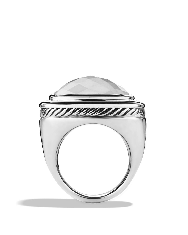 david yurman albion ring with white agate in metallic lyst