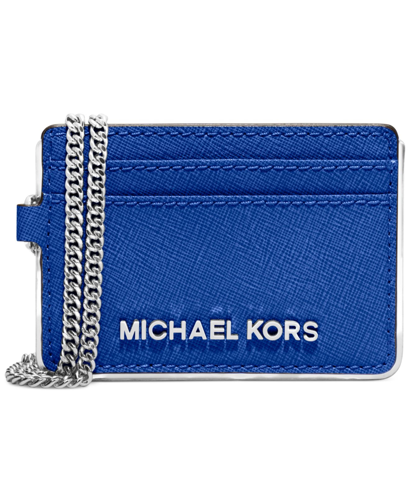 be3a9e9d3e16d Lyst - Michael Kors Michael Specchio Jet Set Travel Chain Metro Pass ...