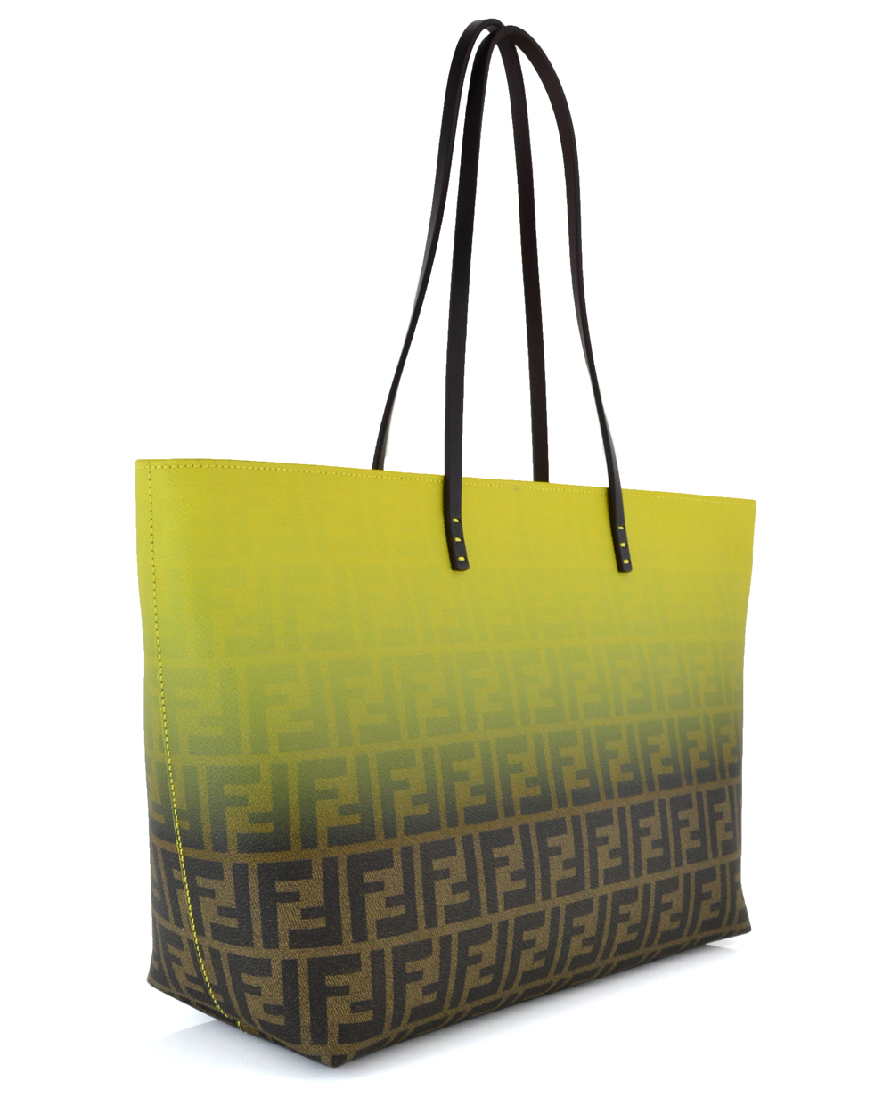 Lyst - Fendi Yellow Ombre Zucca Tote in Yellow