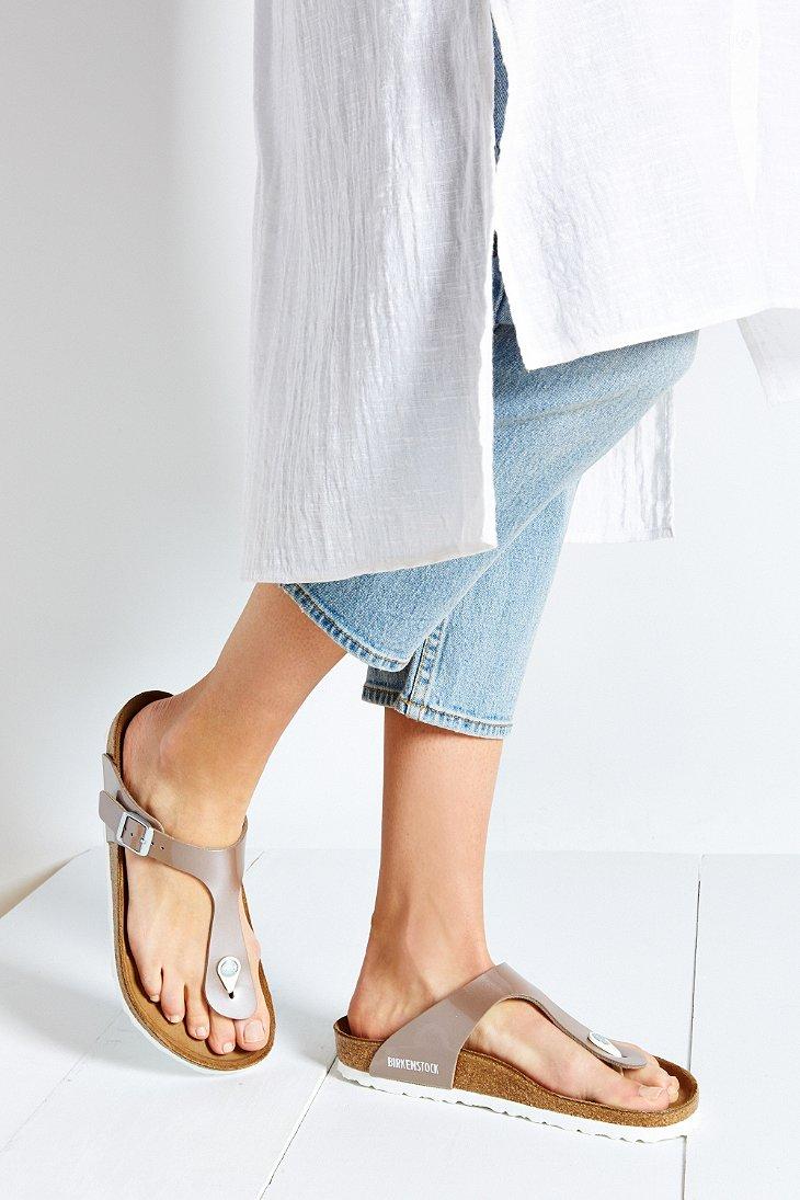 2189388090c820 Lyst - Birkenstock Gizeh Birko-flor Pearly Thong Sandal in Brown