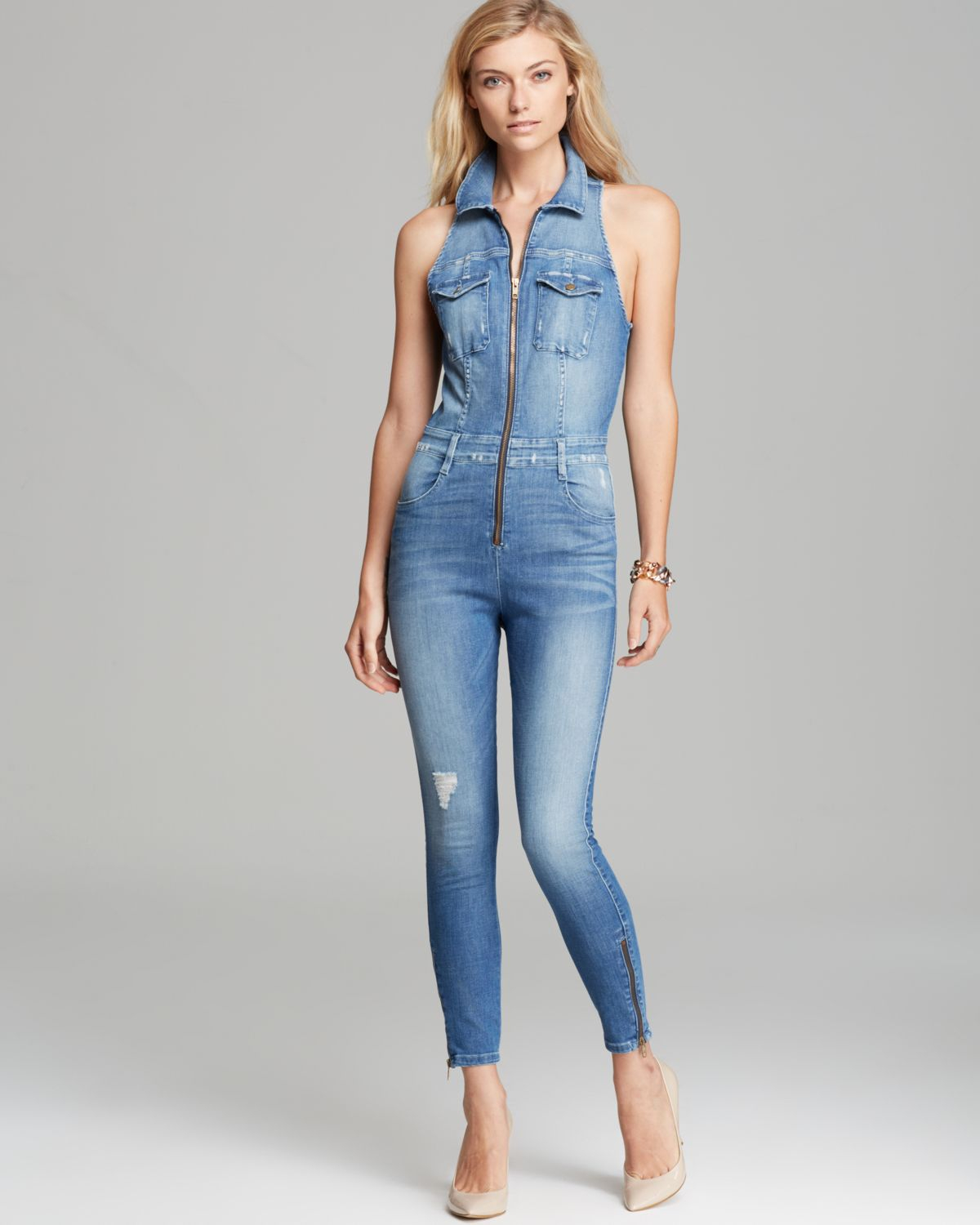 fc8a49bb68ef Guess Jumpsuit Cara Denim in Blue - Lyst