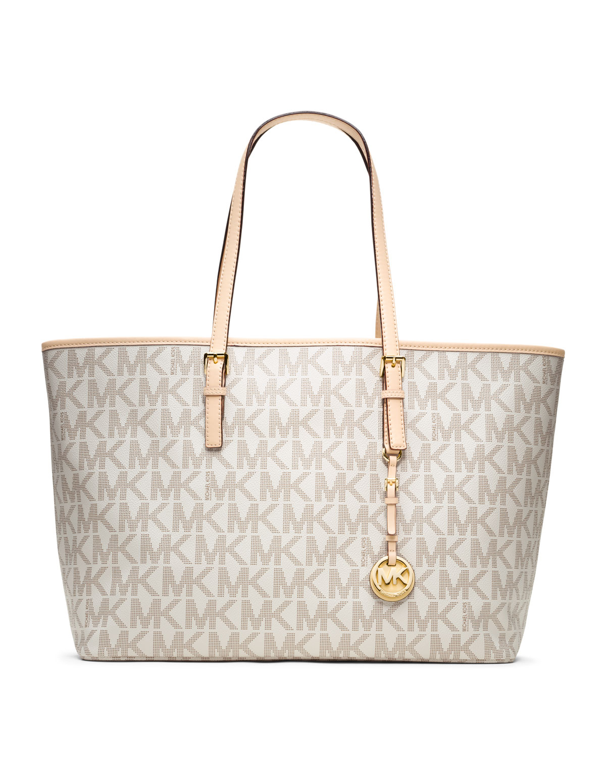 0a0a001b9e1a ... shopping lyst michael kors michael medium jet set multifunction logo  travel 57c90 b771d