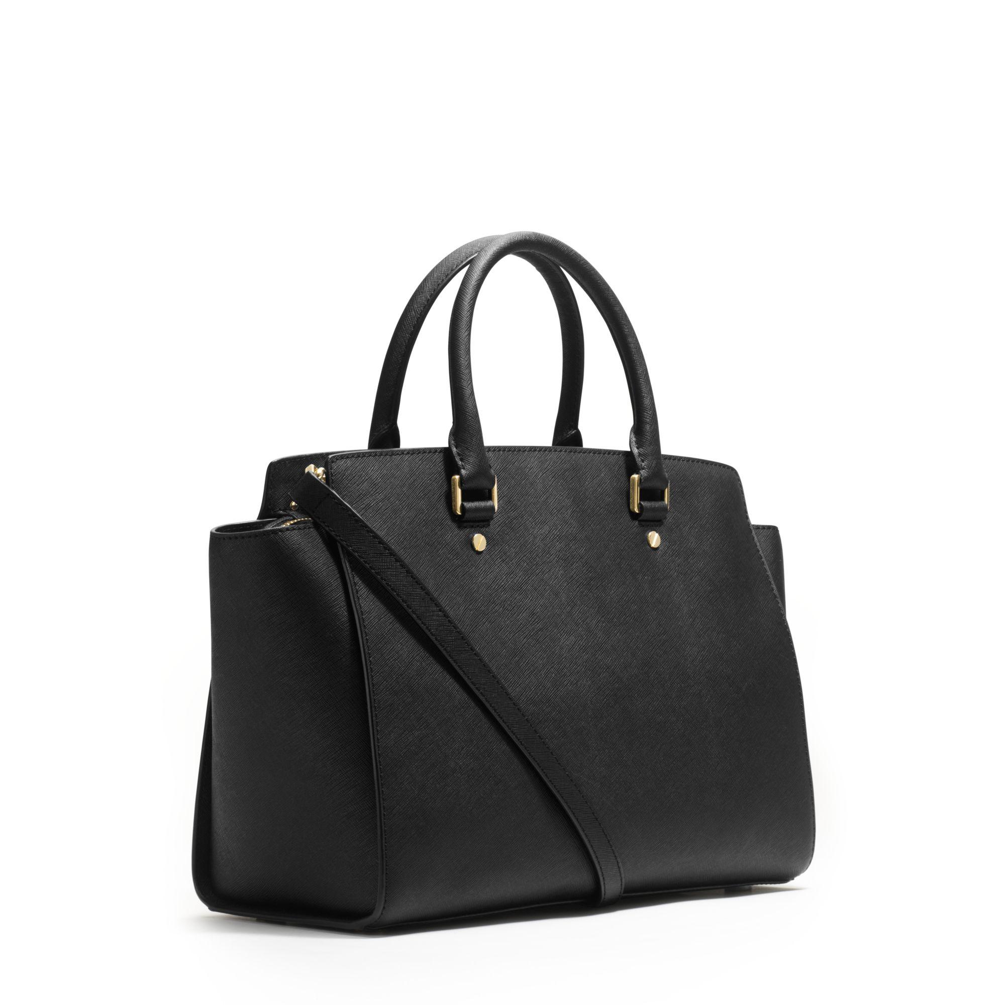michael kors large selma saffiano satchel. Black Bedroom Furniture Sets. Home Design Ideas