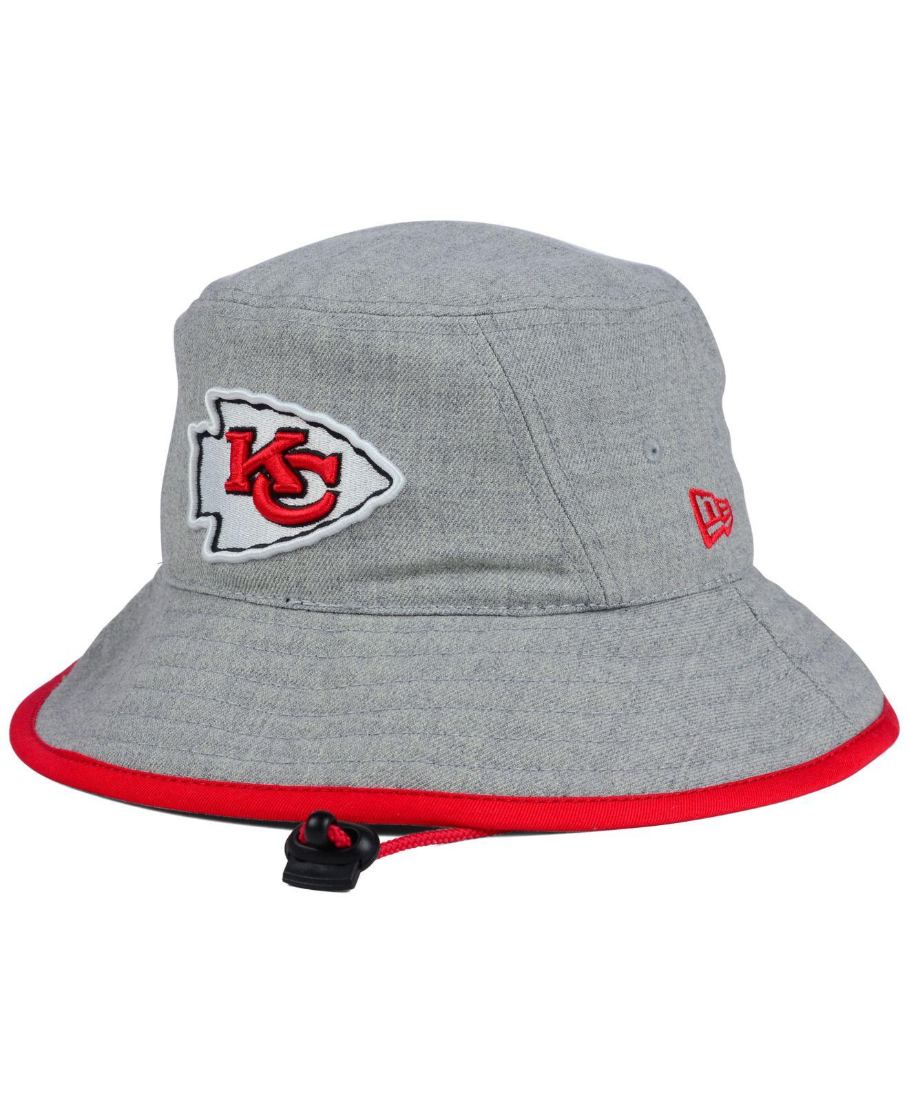 83f6845fa0d9b ... usa lyst ktz kansas city chiefs nfl heather gray bucket hat in gray  79beb 9707e buy iowa state ...
