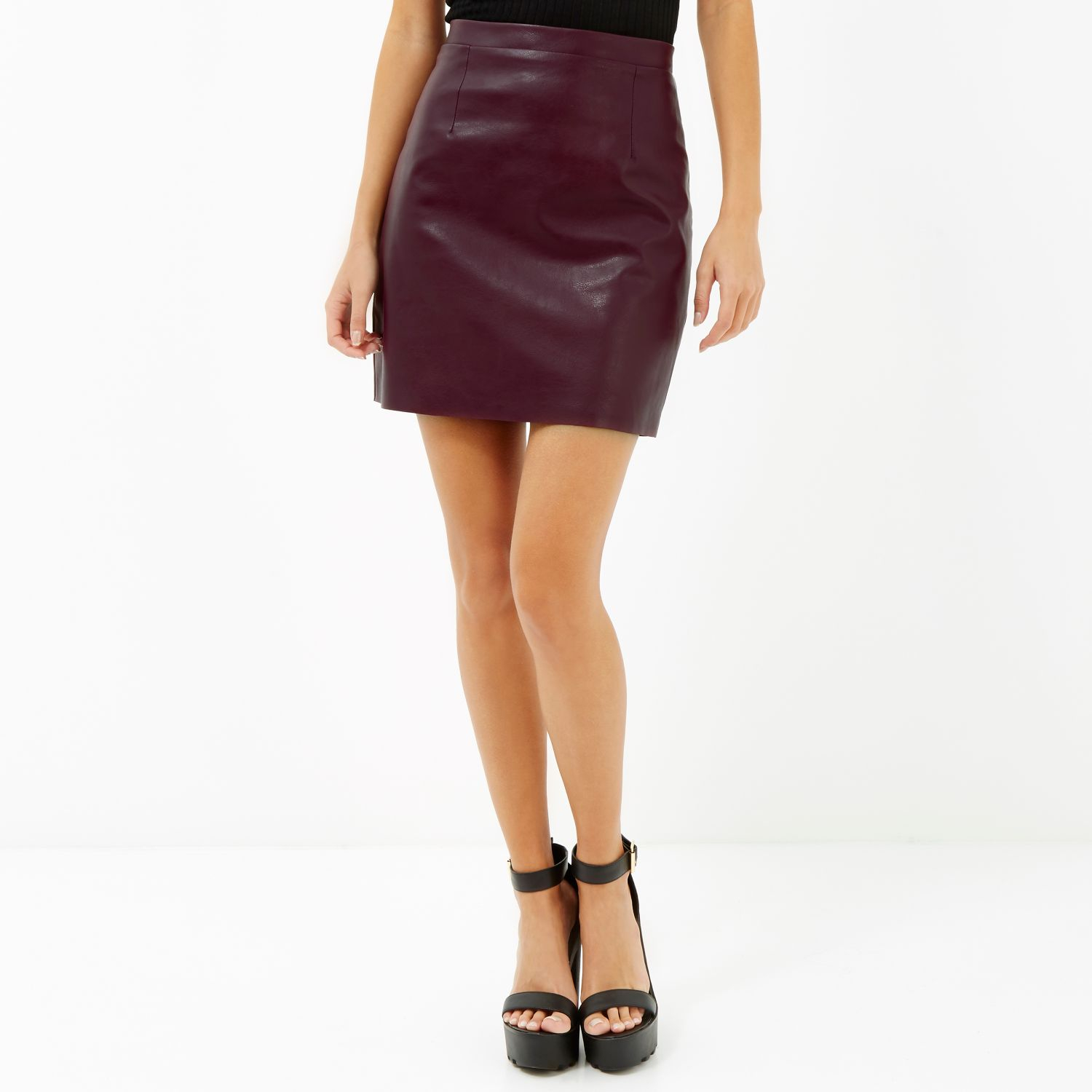 987647ccd Long A Line Leather Skirt