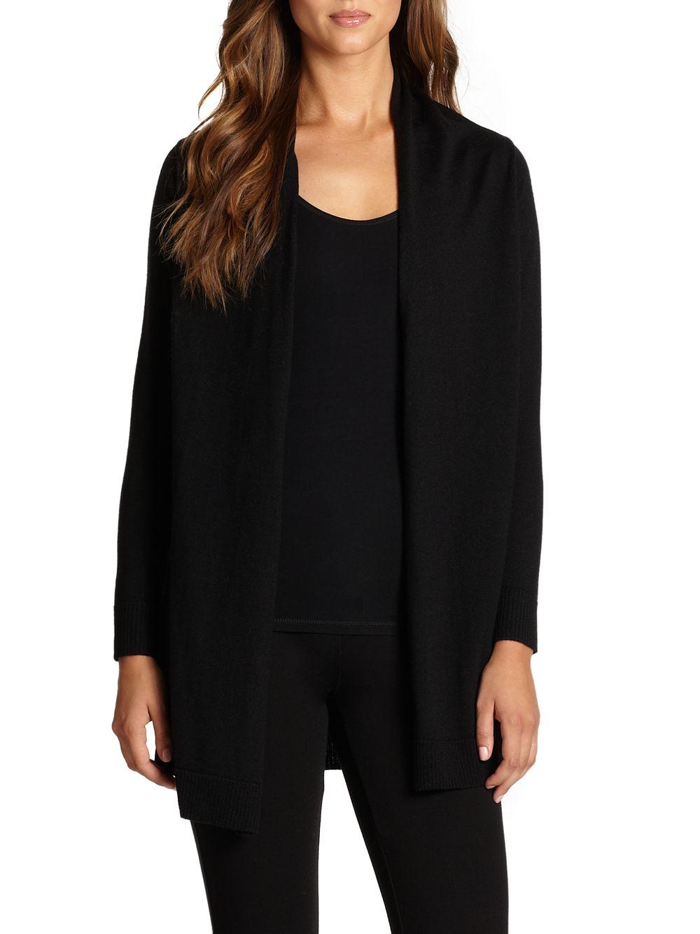 Elie Tahari Adele Shawl-Collar Merino & Silk Cardigan Sweater Details Elie Tahari