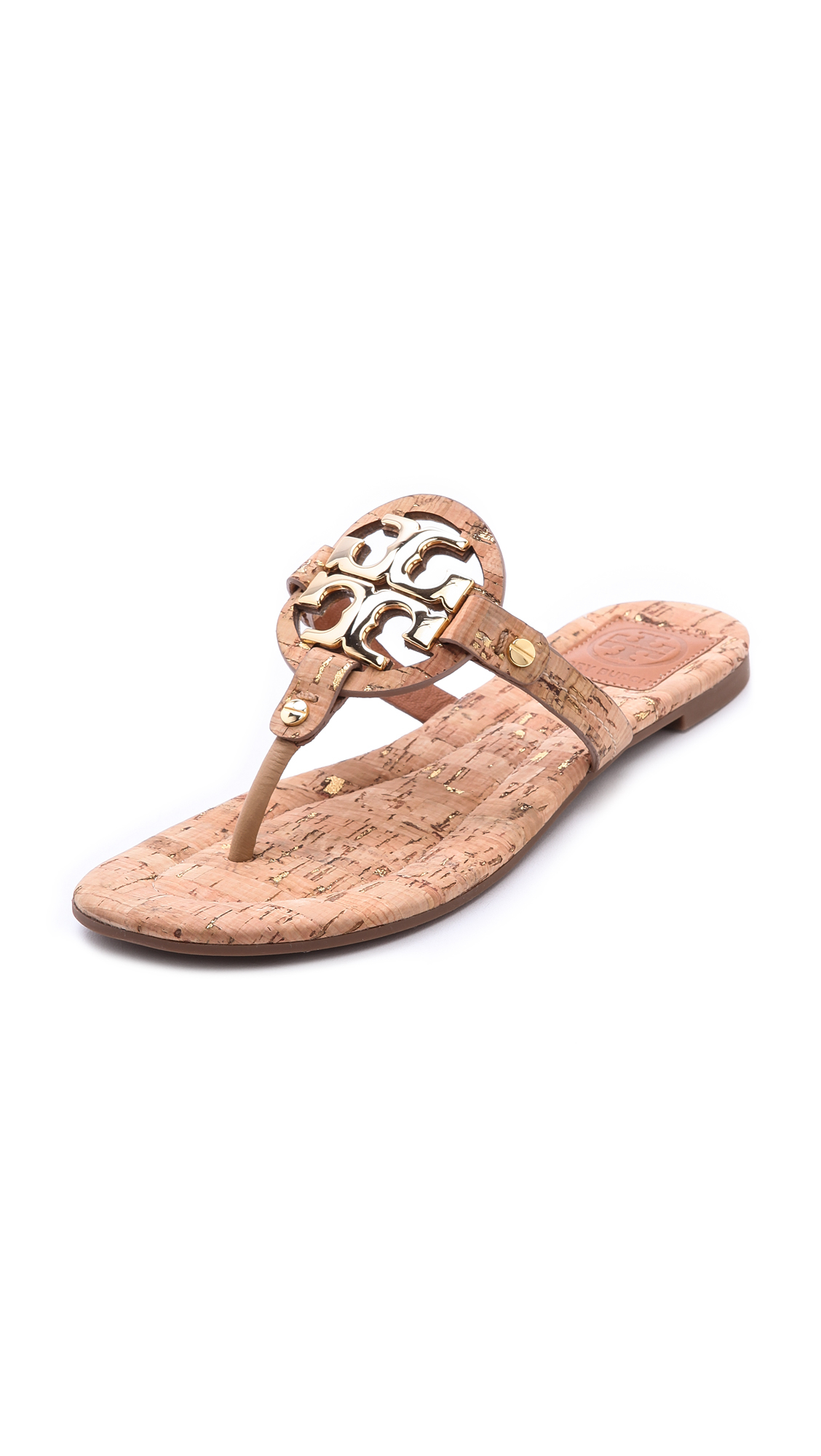 4af2c927e7e62 Lyst - Tory Burch Miller 2 Cork Sandals - Natural gold gold in Metallic