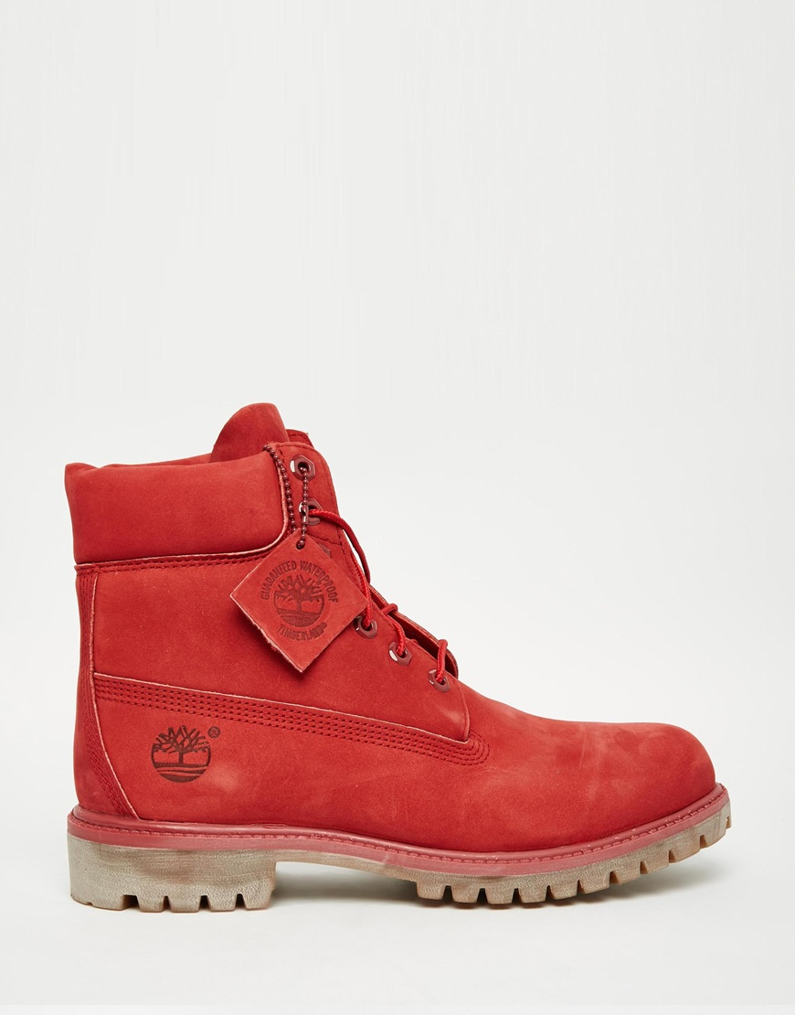 Lyst - Timberland Classic Premium Boots in Red for Men