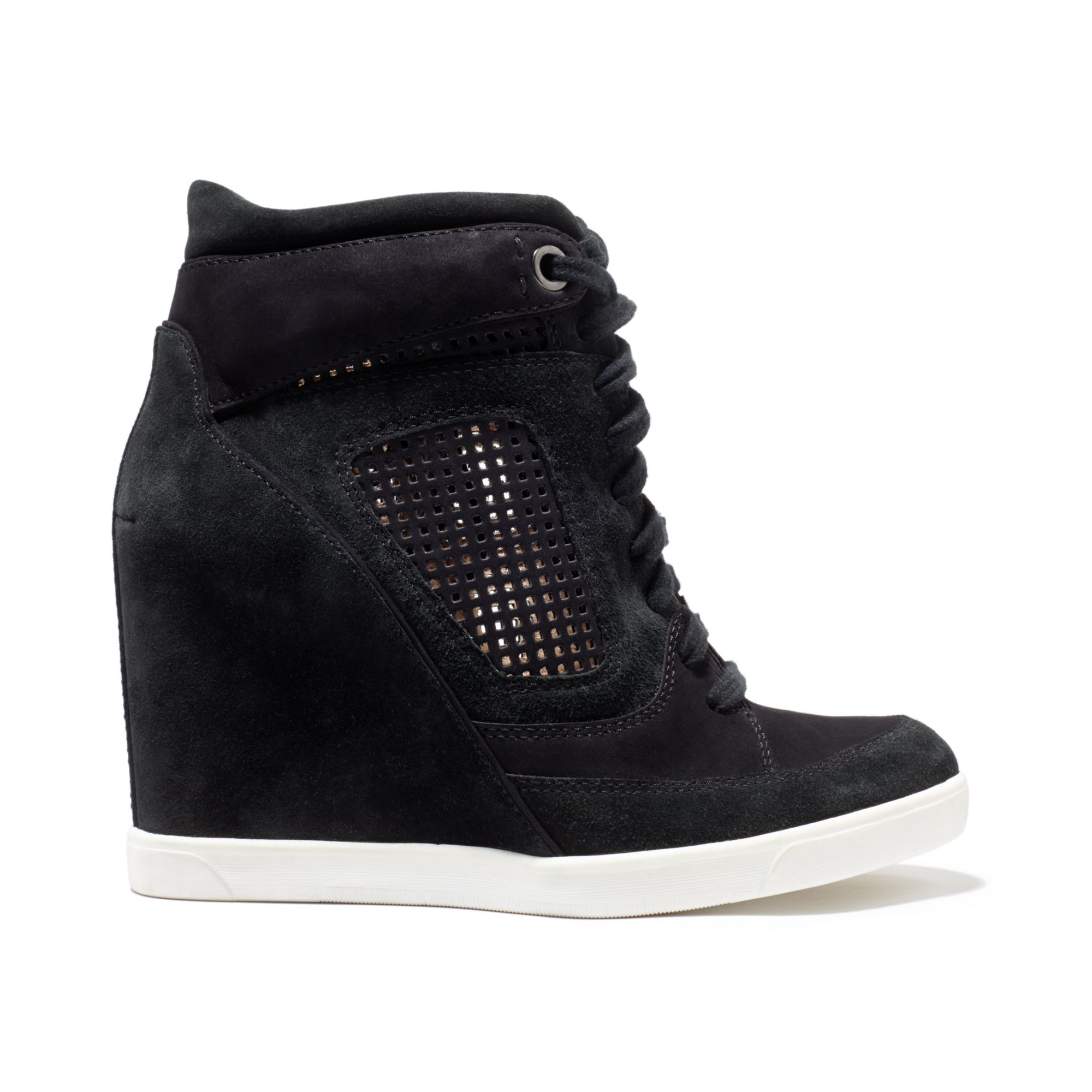 63ebf5f5933 Lyst - French Connection Marla Wedge Sneakers in Black