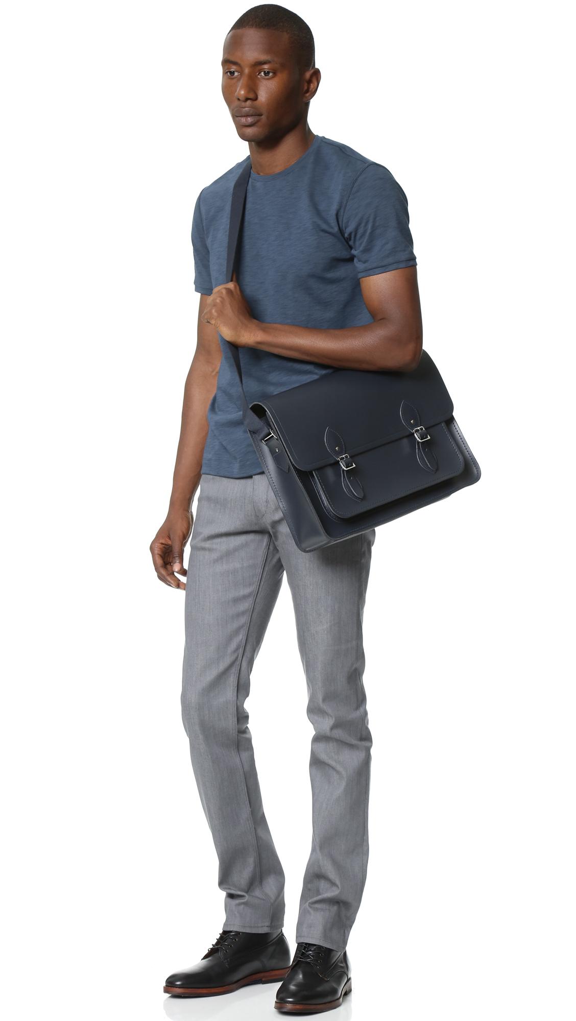 Cambridge satchel company Work Bag in Blue for Men | Lyst