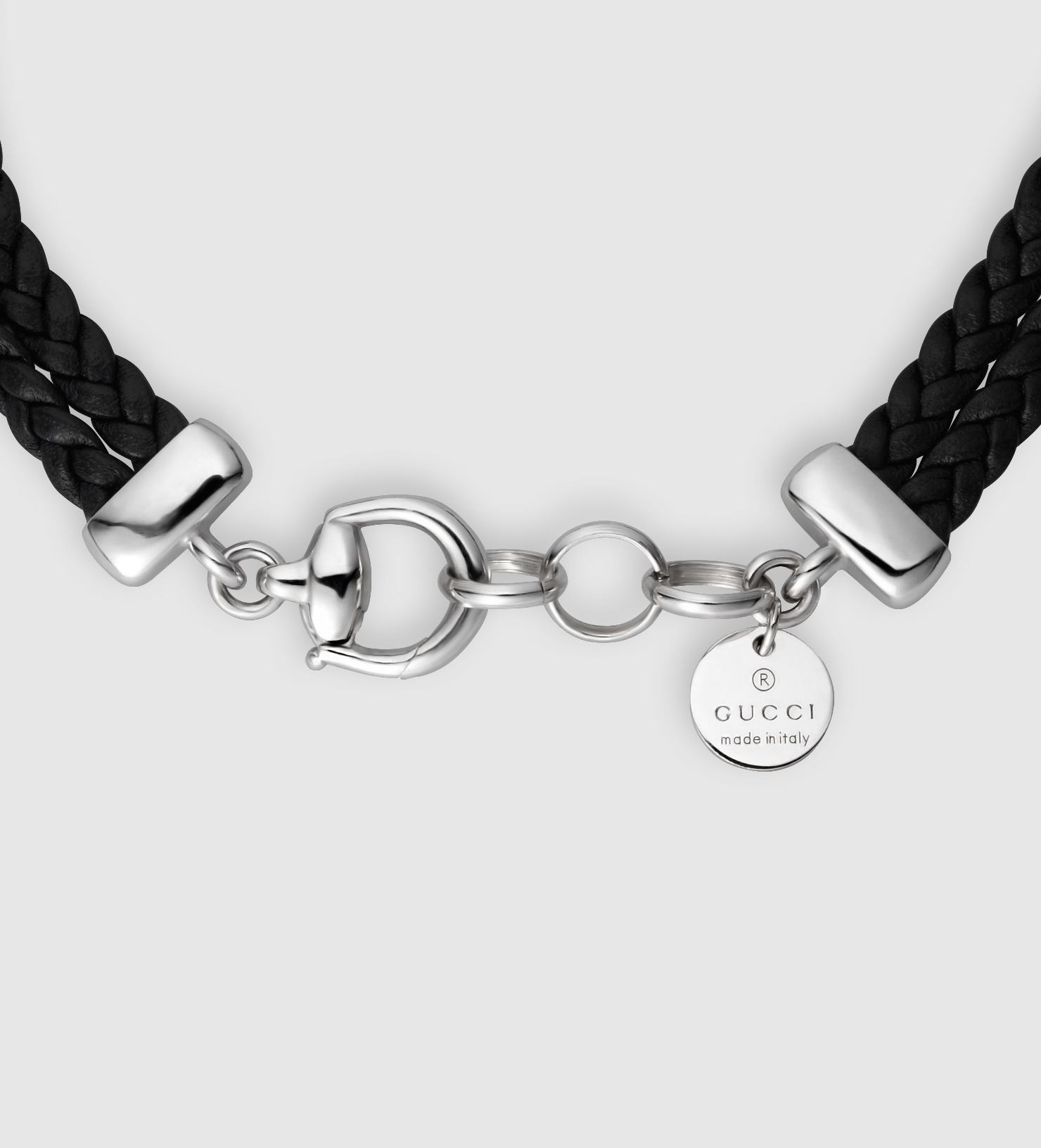 419e4329e Gucci Black Leather Bracelet With Horsebit in Black - Lyst