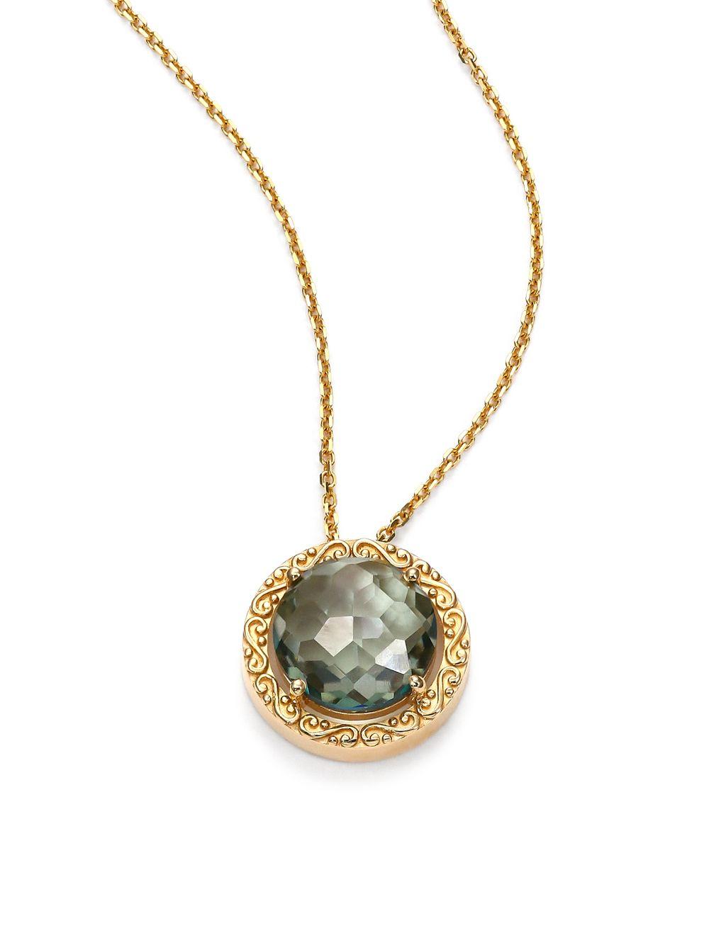 Suzanne Kalan 14k Green Amethyst Pendant Necklace qXe3OzCQ8A