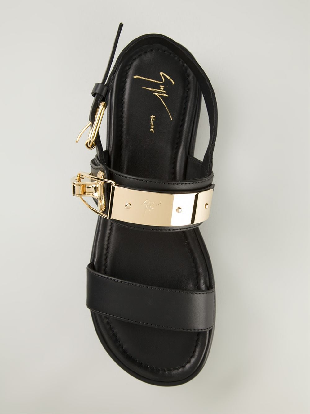 c870871bb2a503 Lyst - Giuseppe Zanotti Clasp Fastening Sandals in Black for Men