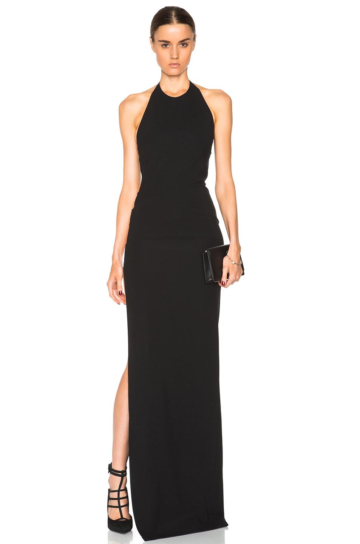 Lyst - Versus Halter Gown in Black