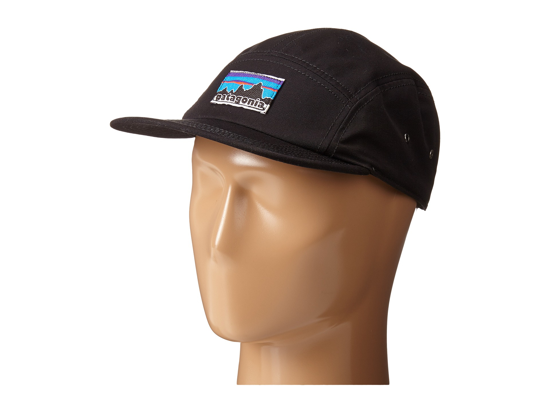 Lyst - Patagonia Retro Fitz Roy Label Tradesmith Cap in Black cf715f0fba8