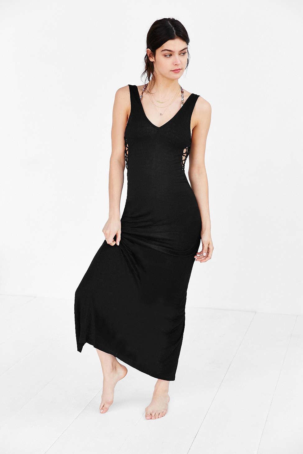 Black slip under dress