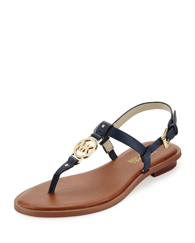 Lyst Michael Michael Kors Sondra Logo Thong Sandal In Blue