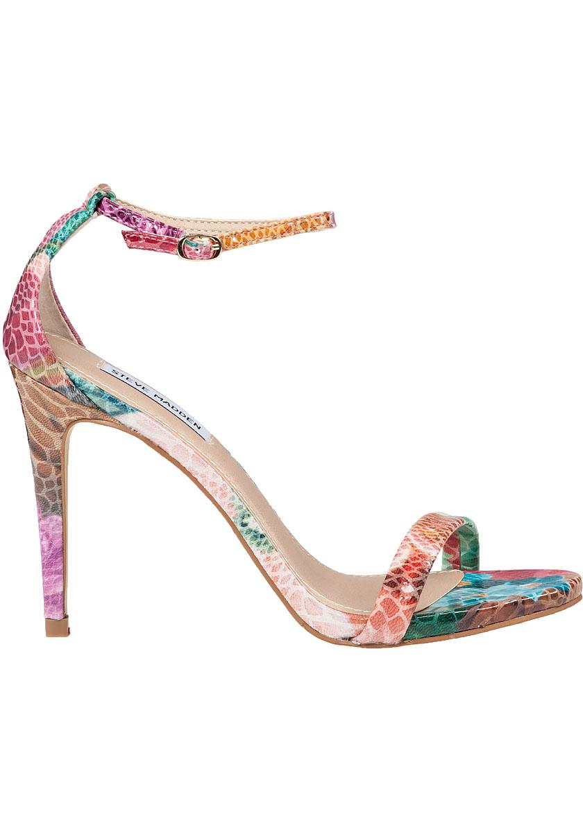 57589a41a62 Lyst - Steve Madden Stecy Ankle Strap Floral Snake