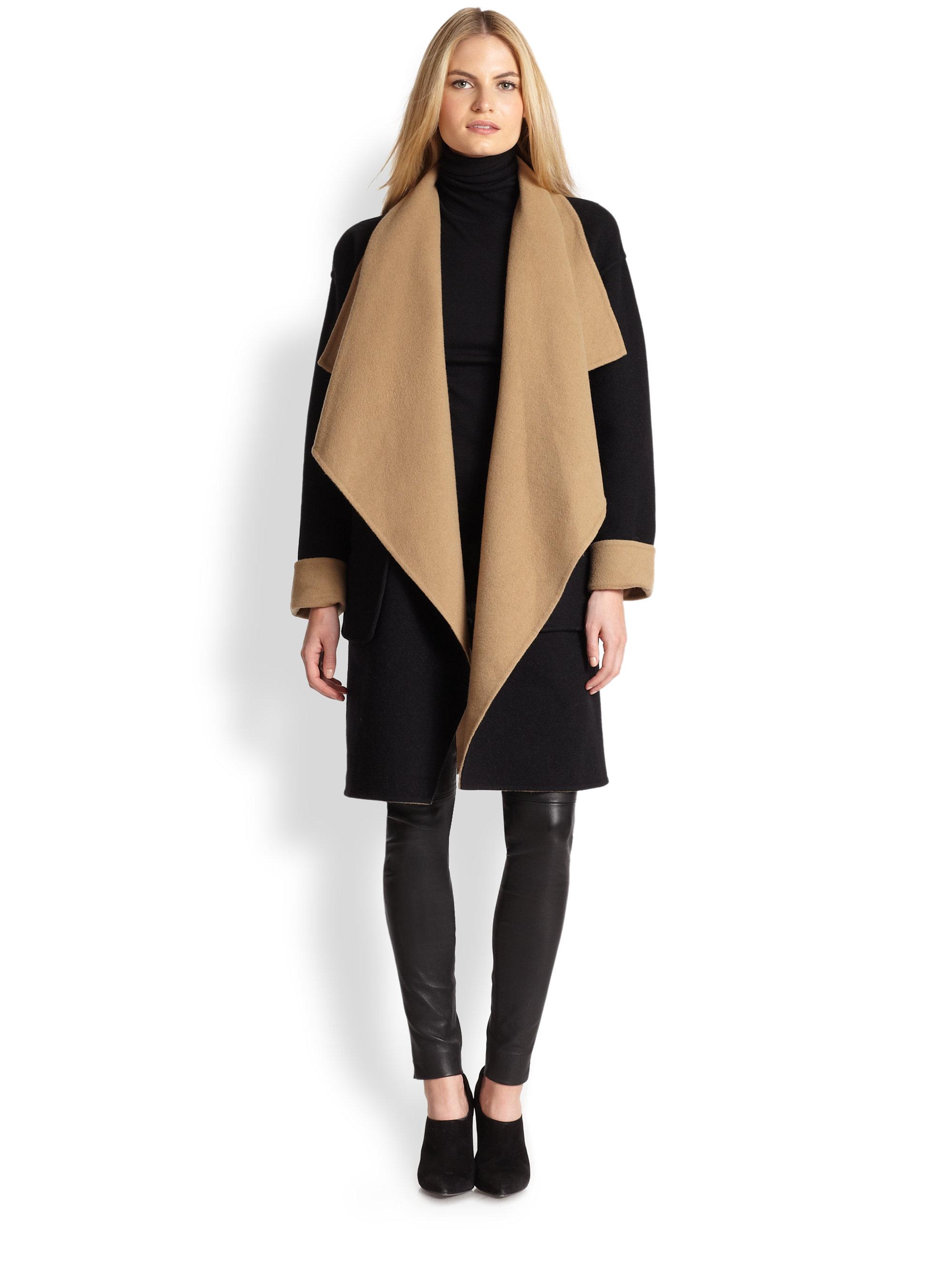 Lyst Ralph Lauren Black Label Reversible Wool Amp Angora