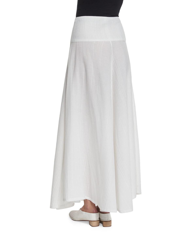 Zero + maria cornejo Long Knit A-line Skirt in White | Lyst
