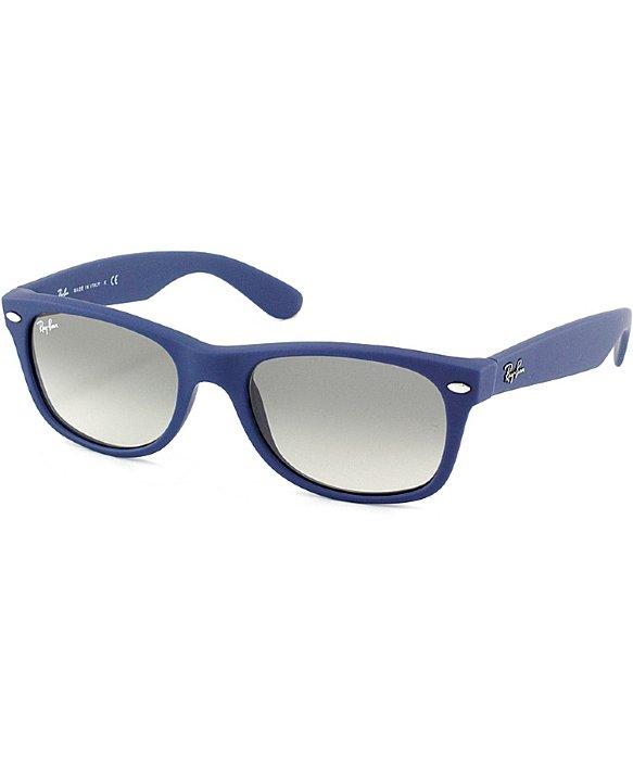df660bf8b6 ... greece lyst ray ban ray ban rb2132 new wayfarer 811 32 light blue rubber  5e6e0 2cfd3