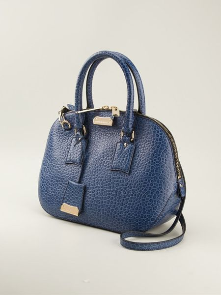 Burberry London The Small Orchard Bowling Bag in Blue