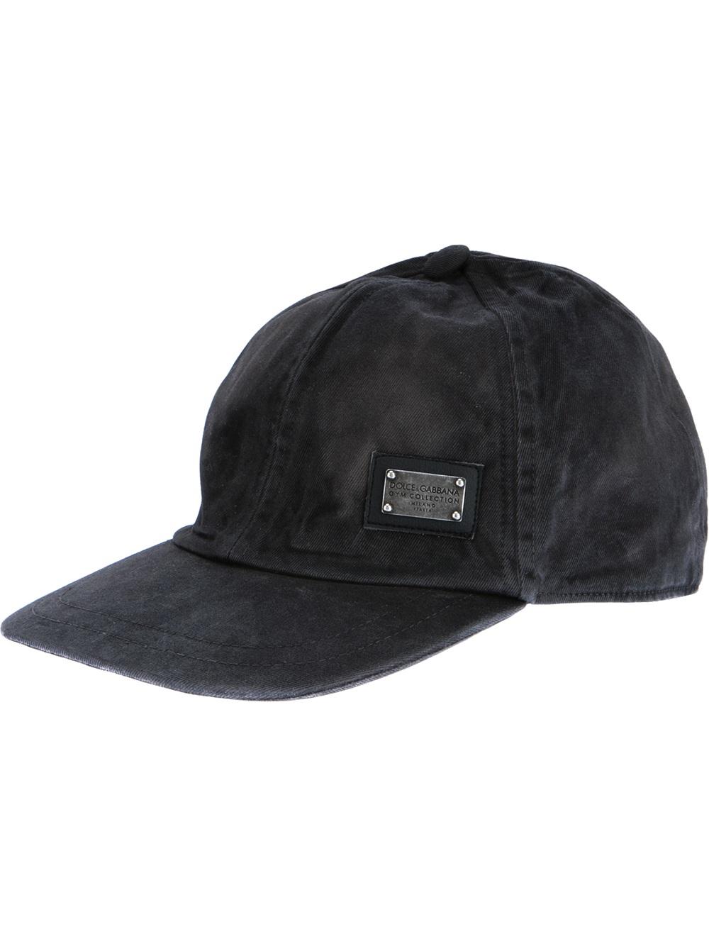 Lyst - Dolce   Gabbana Baseball Cap in Black for Men ebaf2c9fc7a