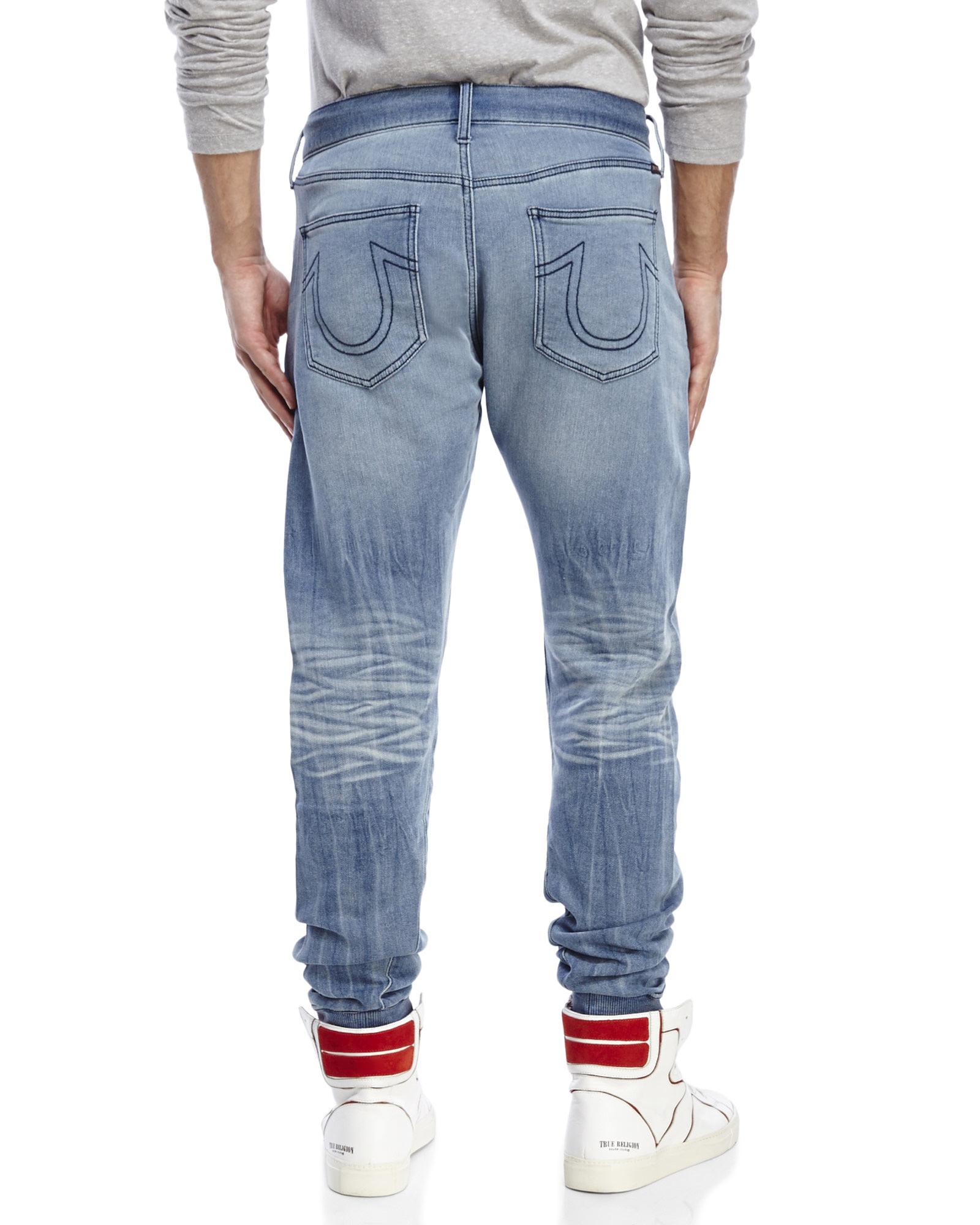 Lyst - True Religion Runner Jogger Pants in Blue for Men b5f09eac6b19