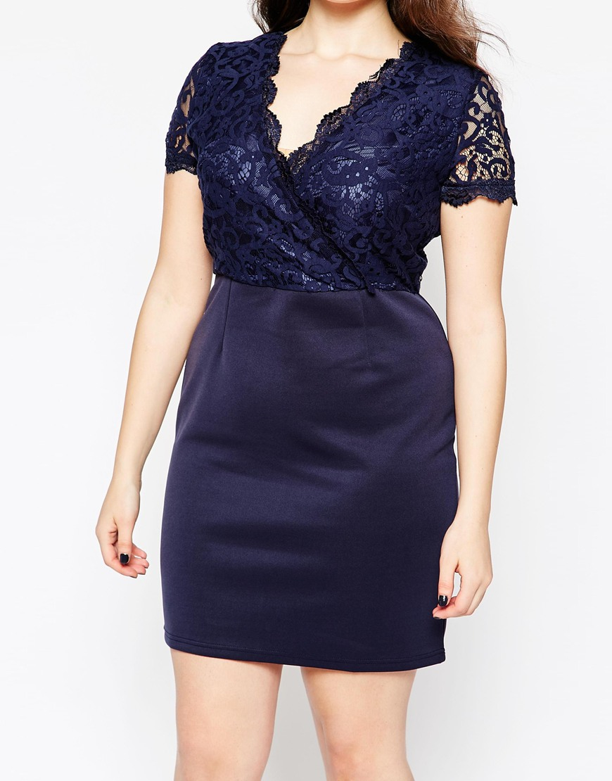 bba61cd2f602 Navy Blue Lace Dress With Sleeves Plus Size - raveitsafe