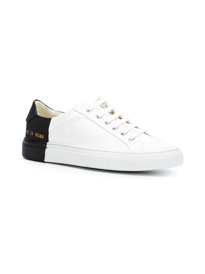 common projects two toned canvas low top sneakers in white lyst. Black Bedroom Furniture Sets. Home Design Ideas