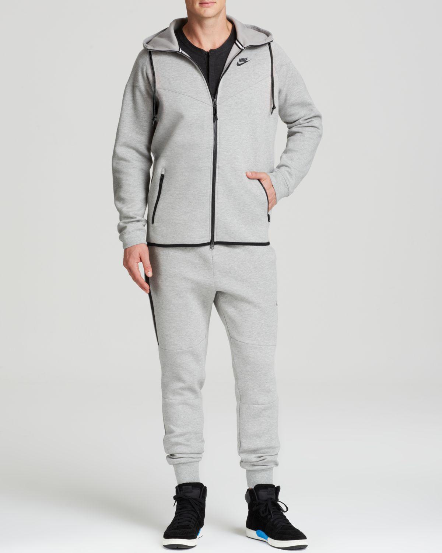 nike tech fleece windrunner sweatshirt in gray for men lyst. Black Bedroom Furniture Sets. Home Design Ideas