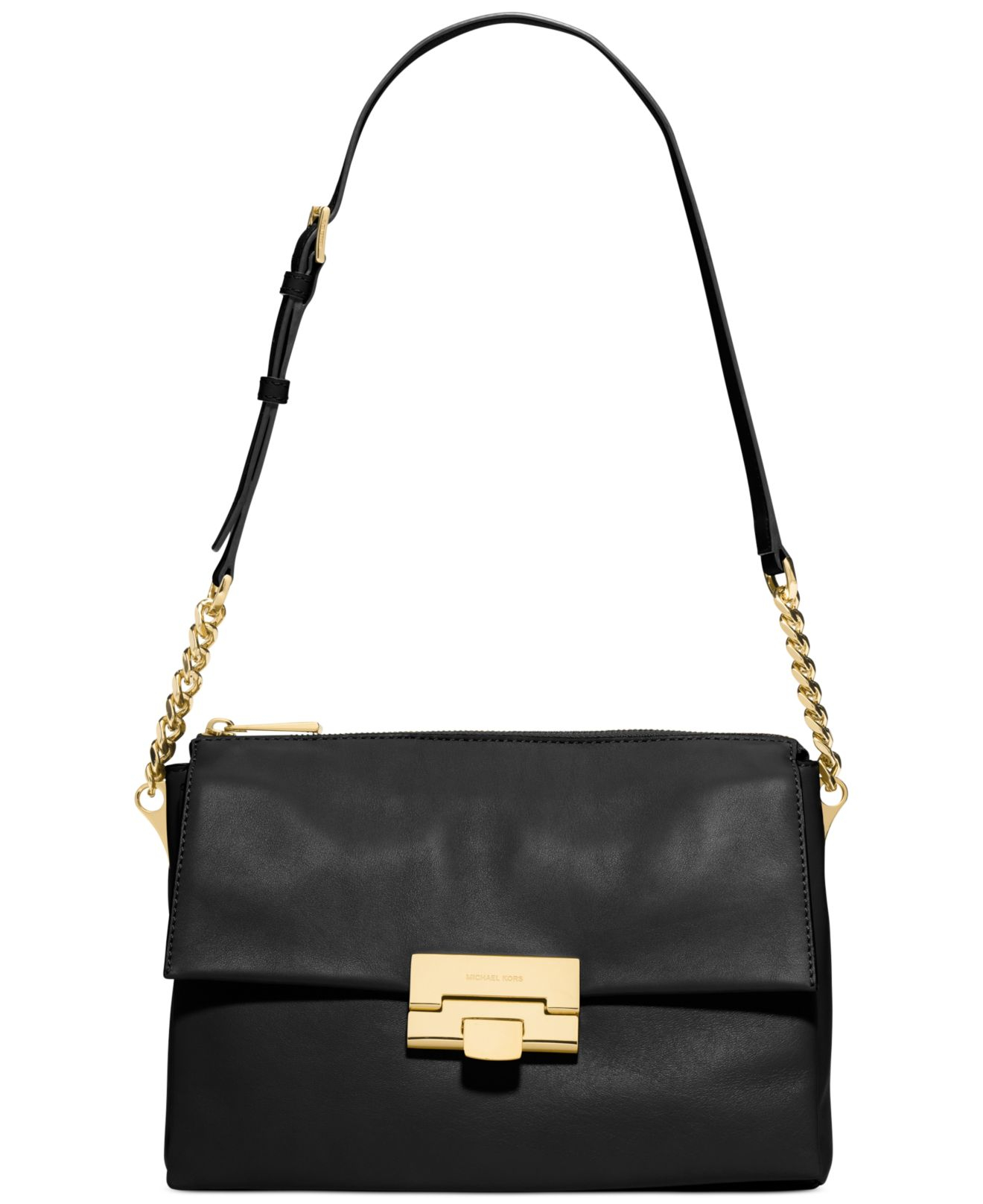 bcadfa3d54cfc3 ... new style lyst michael kors michael karlie large shoulder bag in black  3995a 6495f