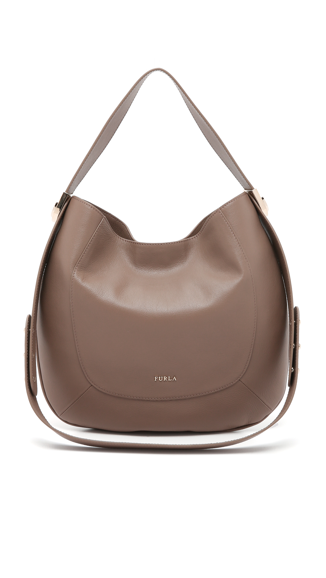 Furla Luna Hobo Bag in Brown | Lyst