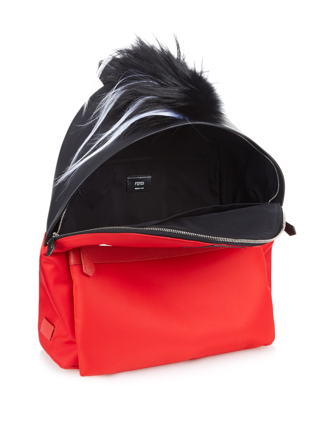 c132a5fa68 Fendi Bag Bugs Leather And Nylon Backpack in Red for Men - Lyst