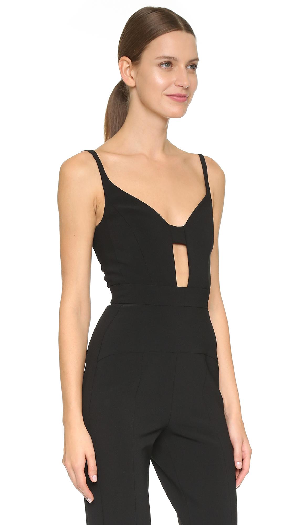 a90f9cb5fbd4 Lyst - Narciso Rodriguez Scuba Crepe Jumpsuit - Black in Black