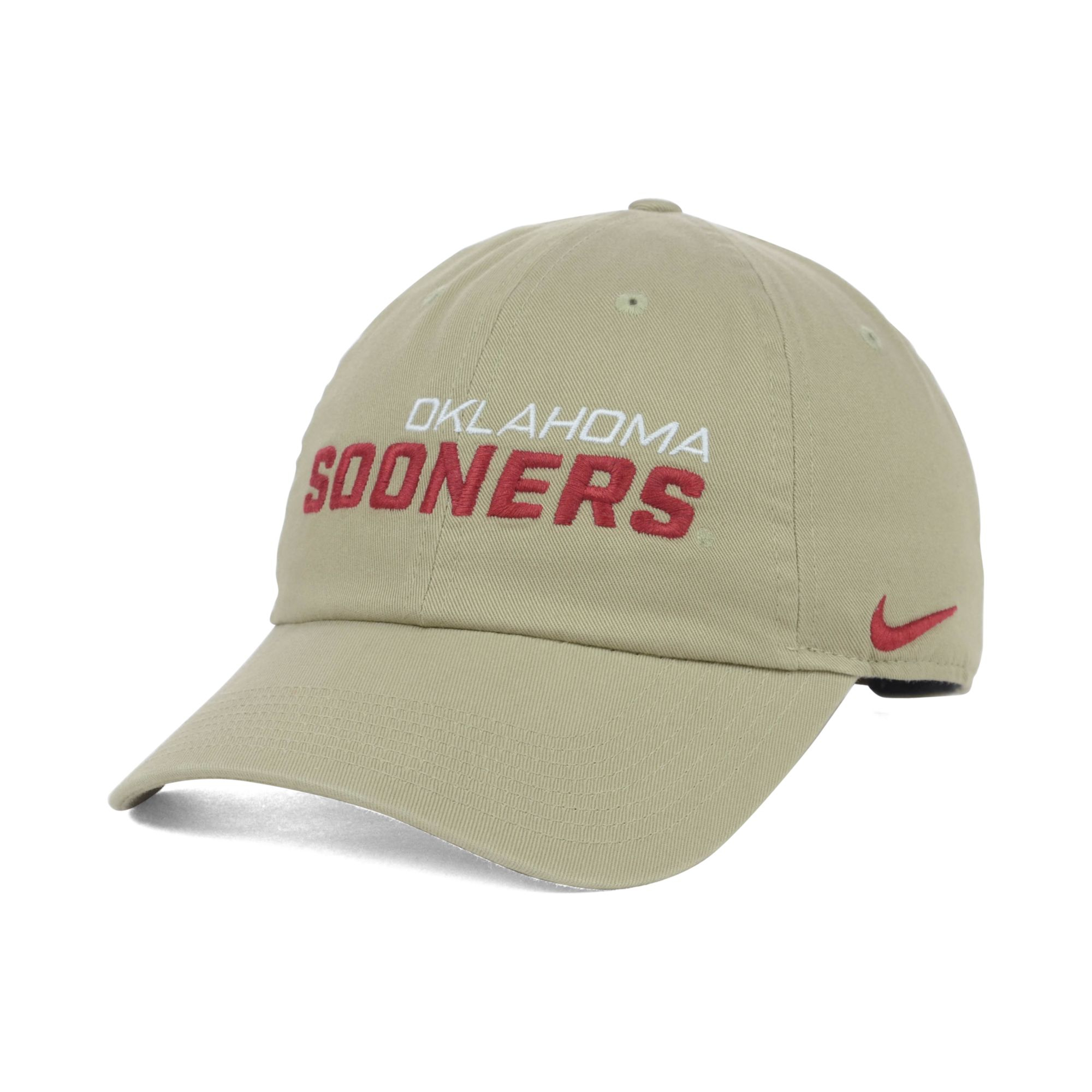 c7726248163 ... release date lyst nike oklahoma sooners heritage campus cap in natural  for men c444f d3fef ...