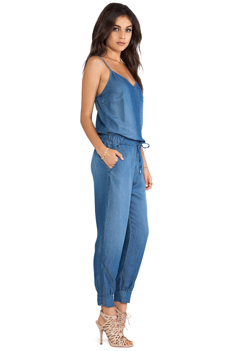 Lyst Splendid Jumpsuit In Blue