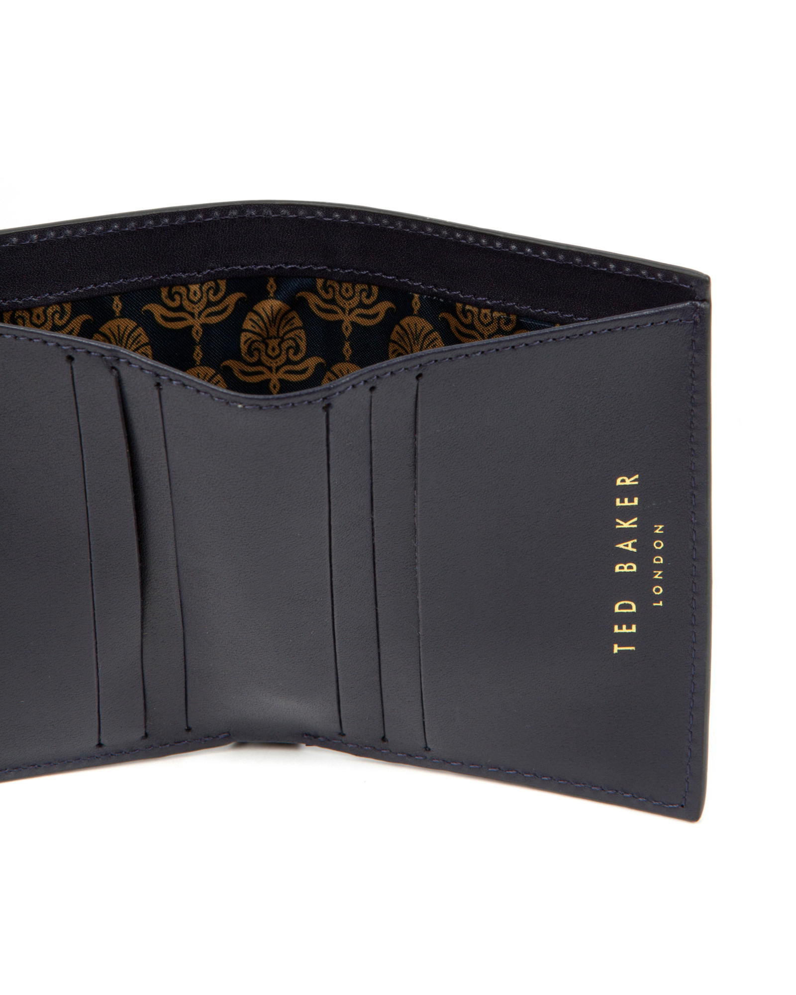 b9733e0e23 Ted Baker Smooth Bifold Wallet in Black - Lyst