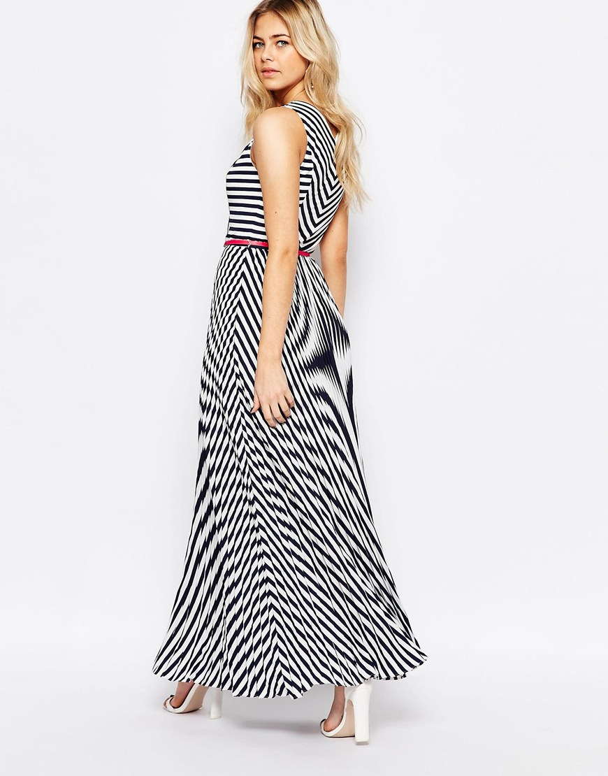 Oasis Asis Stripe Maxi Dress in Black | Lyst
