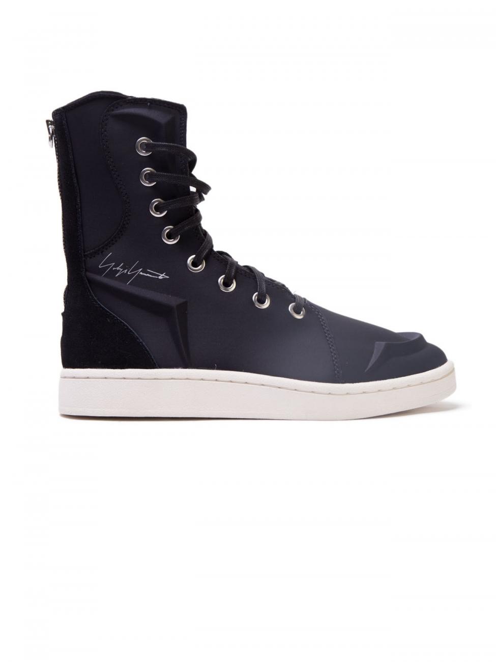 Yohji Yamamoto Black Boxing Boots In Black For Men Lyst
