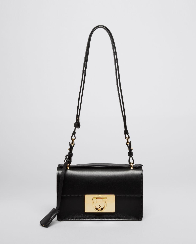 683c89319738 Lyst - Ferragamo Shoulder Bag - Aileen Mini in Black