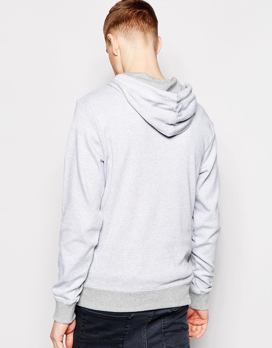 Bench Hoodie Logo In Gray For Men Lyst